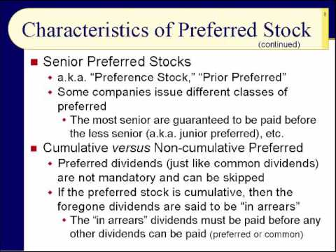 BUS123 Chapter 18 - Preferred Stocks and Convertible Securities - Slides 1 to 17