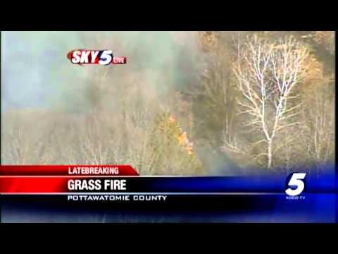 Sky5 video: Grass fire in Pottawatomie County