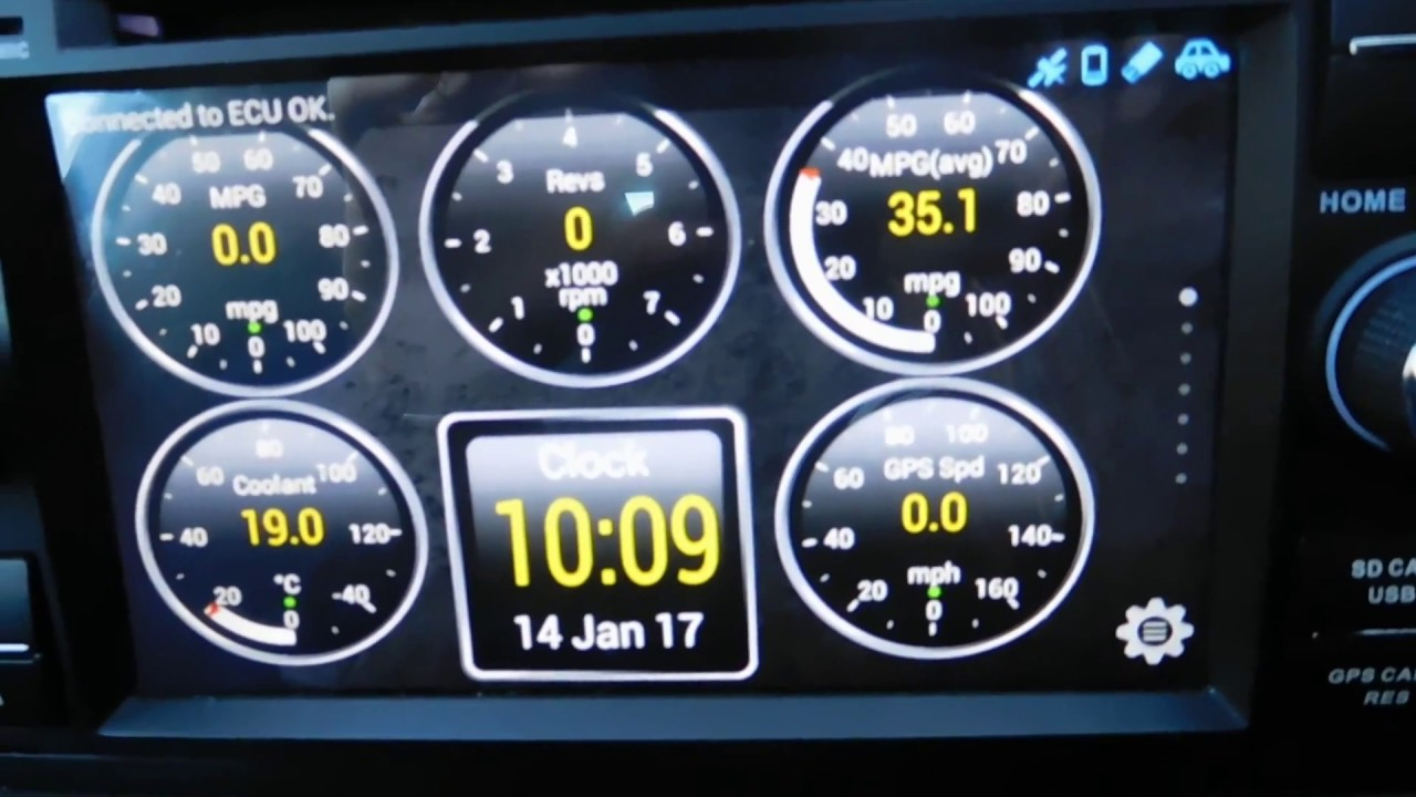 fiesta st android head unit spotify and torque app s youtube rh youtube com