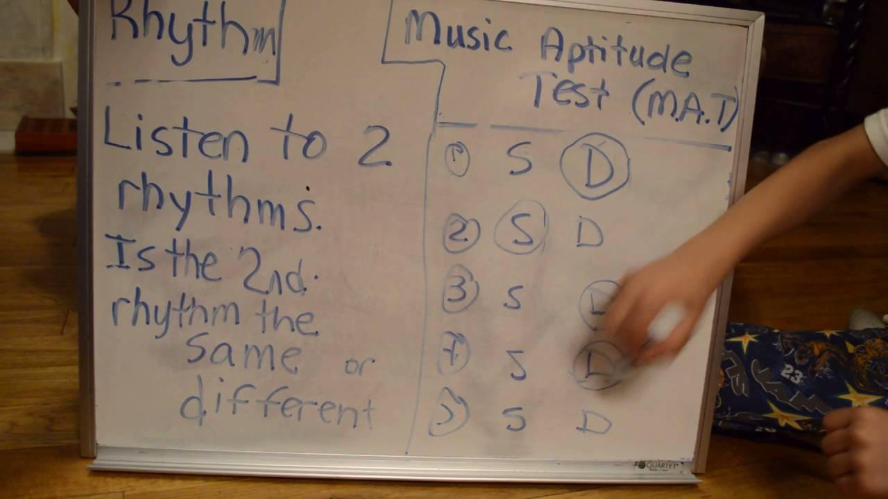 Music Aptitude Test 4 Rhythm Youtube