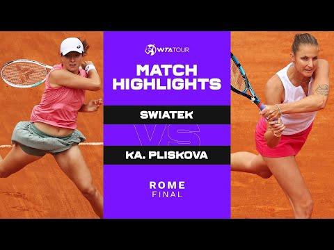 Iga Swiatek vs. Karolina Pliskova | 2021 Rome Final | WTA Match Highlights