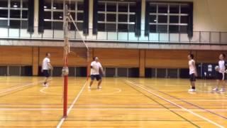 バレーボール アタック練習