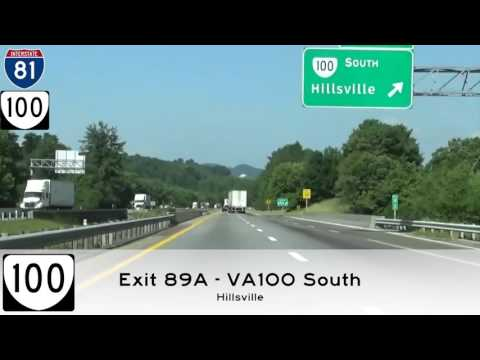 I 81 South - Christiansburg VA To Bristol VA