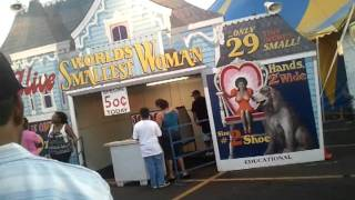 World smallest lady...funny n.j state fair