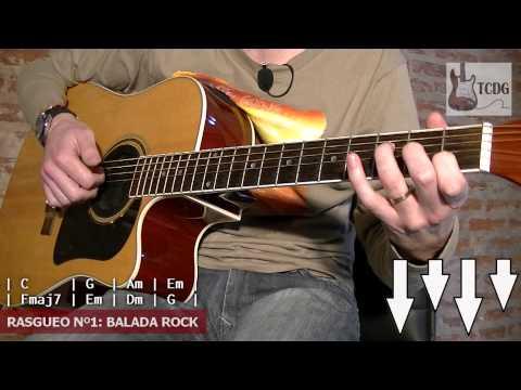 Aprende Como Tocar Rasgueos de Rock en Guitarra Acústica: Tutorial #1 TCDG