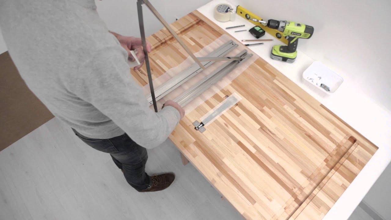 tavolo pieghevole telkì di ntc; tutorial di montaggio - youtube