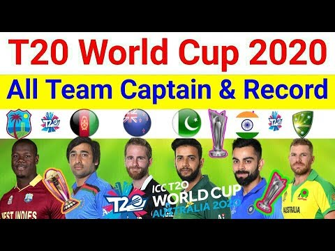 World Cup 2020 Team.Icc T20 World Cup 2020 All Team Captains And Records List Cwc 2020 Full Schedule