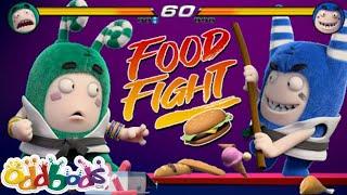 Kung Fu Master Wins Food Fight | New Funny Cartoon | ODDBODS