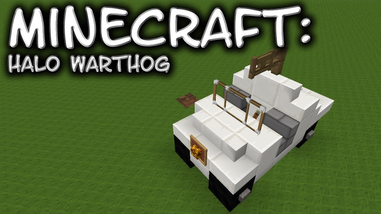 How To Build A Halo Warthog In Minecraft