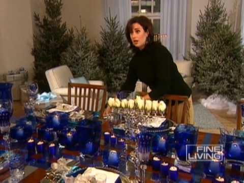 Hanukkah table fine living youtube for Hanukkah home decorations