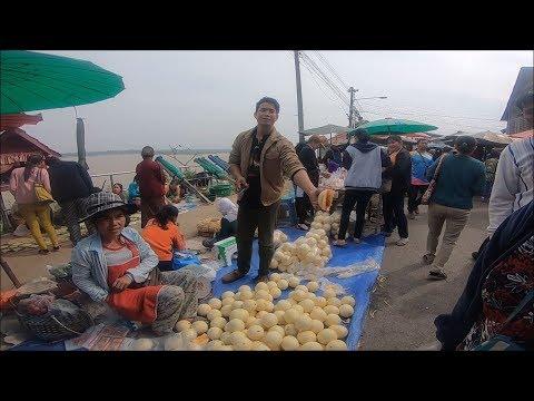 Laos Market in thailand border , laos food
