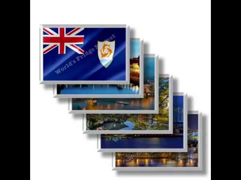 AI - Travels in ANGUILLA  rectangular magnets and souvenirs