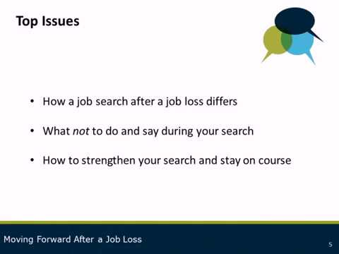 Career Advice Series: Moving Forward After a Job Loss