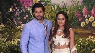 Varun Dhawan With Girlfriend Natasha Dalal At Sonam Kapoor's Grand Wedding Party
