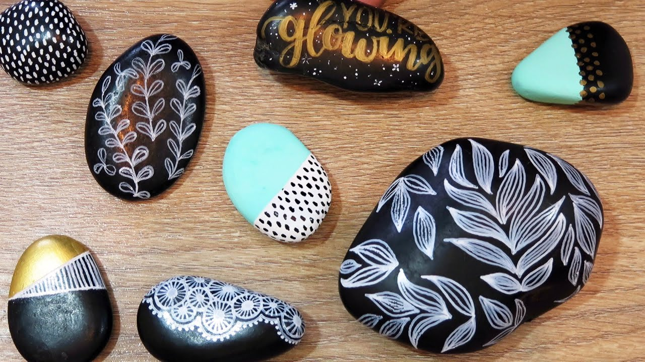Diy rock painting for the first time ideas and tips - Cool designs to paint ...