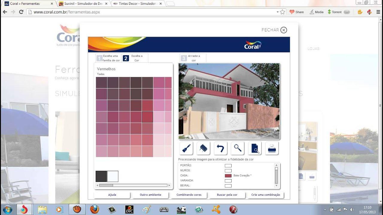 Simulador de cores coral para casas tintas renner for Simulador de casas