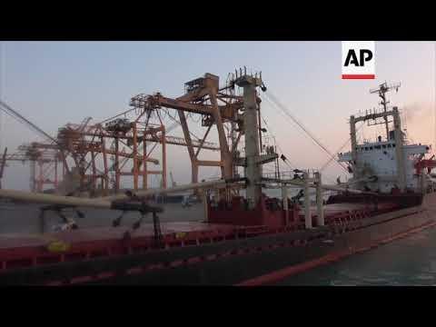 First food aid reaches formerly blockaded Yemen