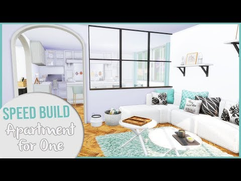 the-sims-4-speed-build-|-large-apartment-for-one-+-cc-links