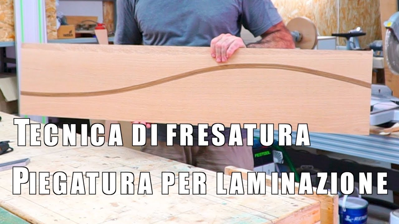 Piegatura per laminazione del legno tecnica di fresatura e - Progetti mobili in legno pdf ...