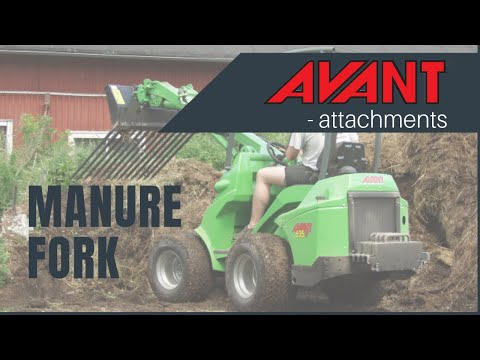 Manure Fork, Avant 300-700 Series attachment