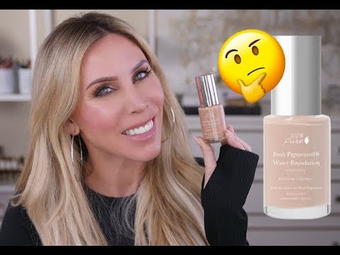 New 100% Pure Full Coverage Water Foundation Review