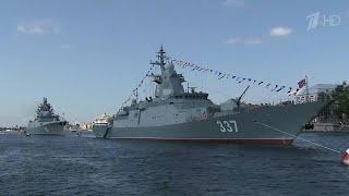 В Петербурге и Кронштадте состоялась генеральная репетиция Главного военно-морского парада.