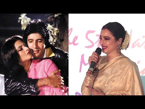 EMOTIONAL Rekha Breaks Down Talking About Amitabh Bachchan While Honoring Lata Mangeshkar
