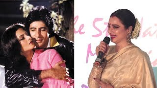 EMOTIONAL Rekha Breaks Down Talking About Amitabh Bachchan While Honoring Lata Mangeshkar