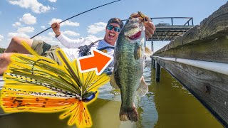 Bass Fishing with Finesse Jigs (Summer Dock Fishing Tips)