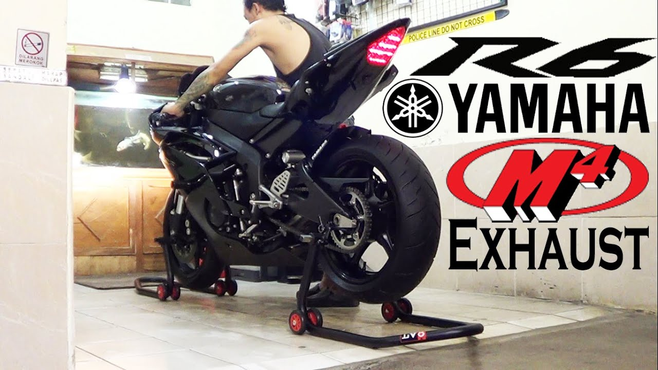 Yamaha R6 2013 Black Edition Exhaust M4 Street Slayer SOUND Istimewa