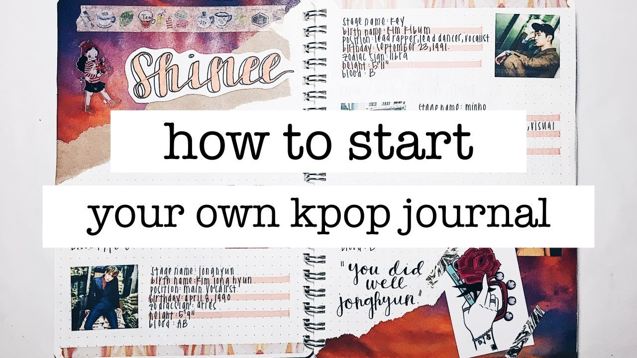 how to start a kpop journal + journal supplies + journal with me |  finessejournal