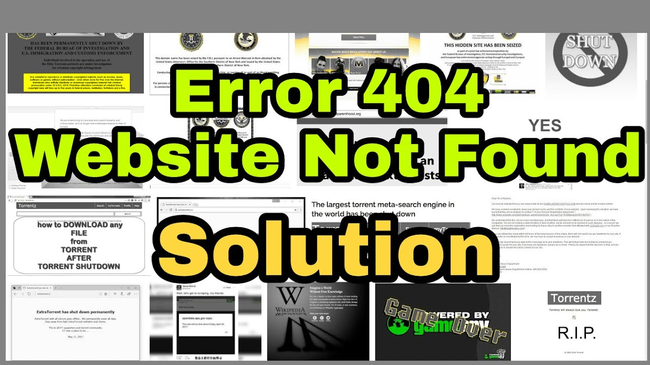 Website not found, Open Any 404 website | travel back in internet