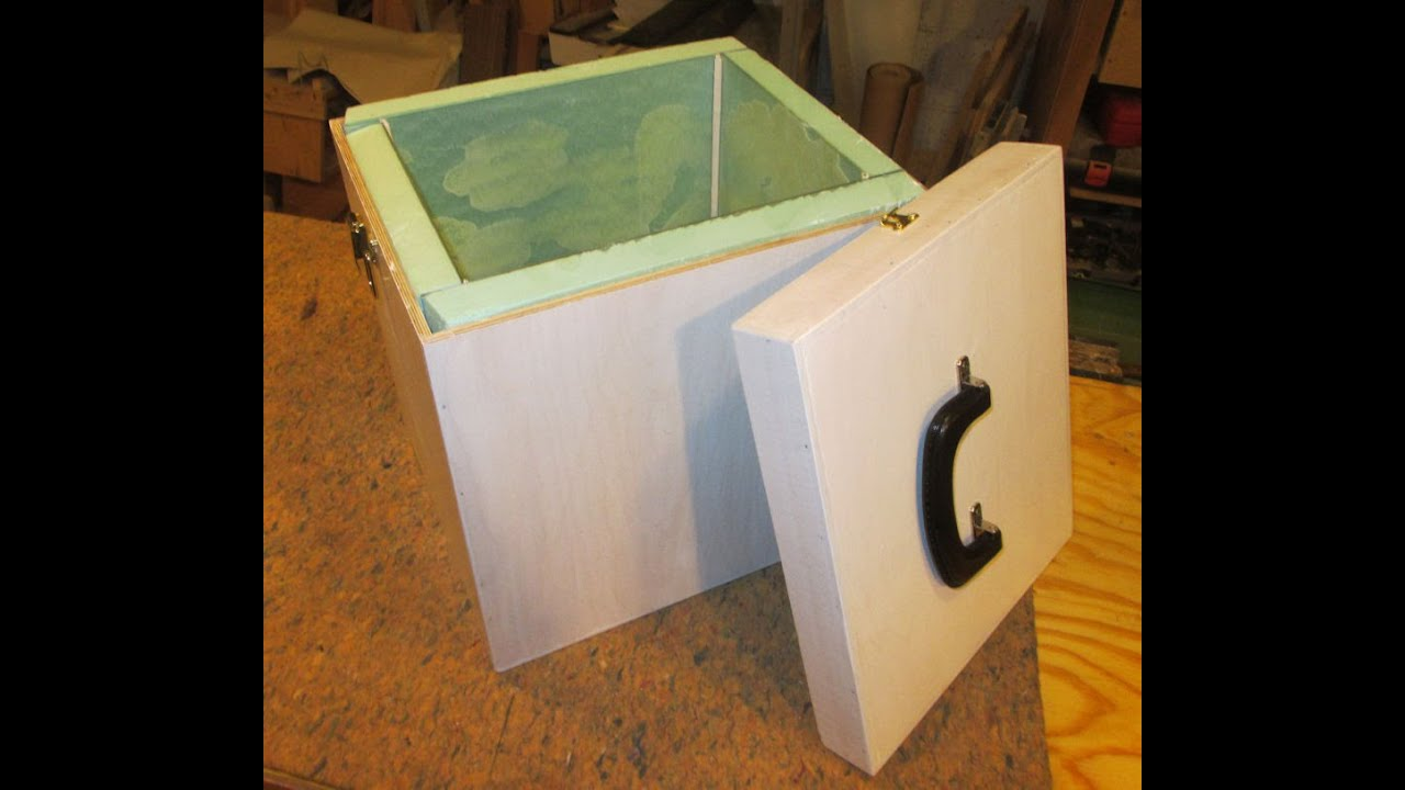 7 small plywood insulated cooler box build youtube