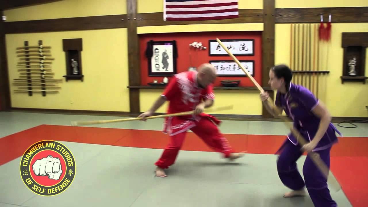 Shaolin Combat Stick - Hung Gar Kung Fu - 2 man form