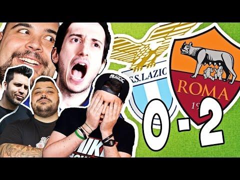 LAZIO ROMA 0-2 LE REAZIONI DIVERTENTI DEGLI YOUTUBER!!