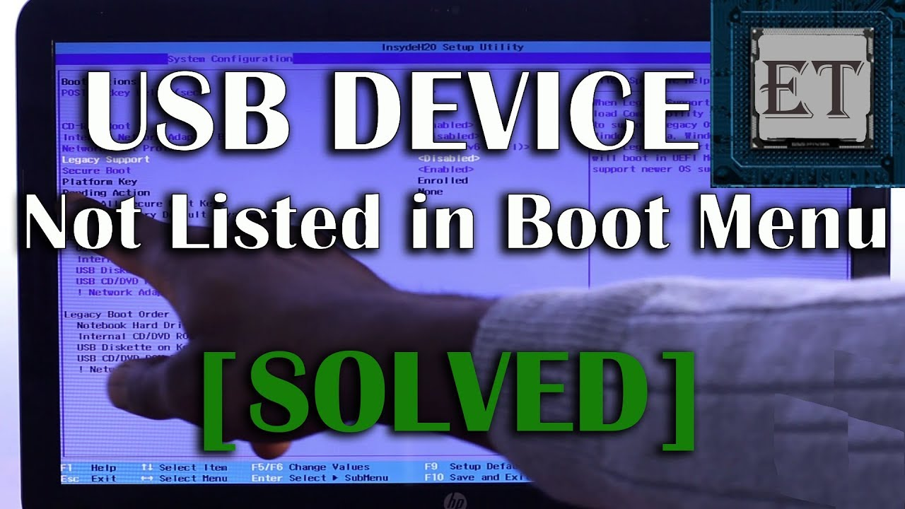 uefi boot usb not recognized