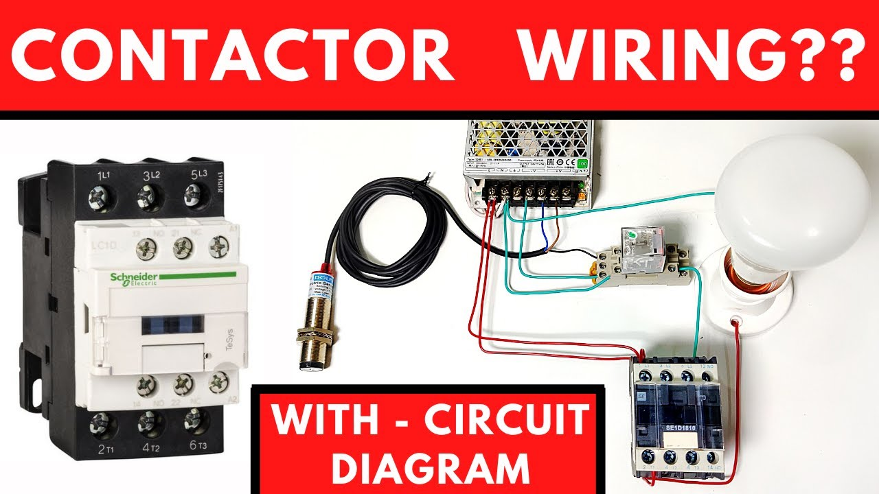 2 Wire Ac Proximity Sensor Switch Connection With Relay And Load 220v Ac Youtube