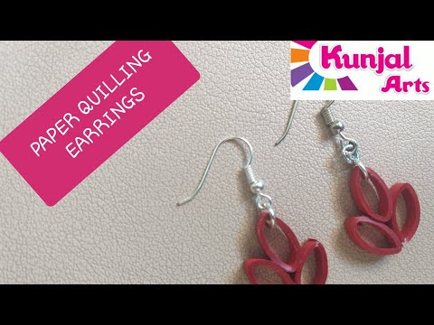 SIMPLE DIY EASY TO MAKE PAPER QUILLING EARRINGS QUILLING JEWELLERY accessories PAPER art