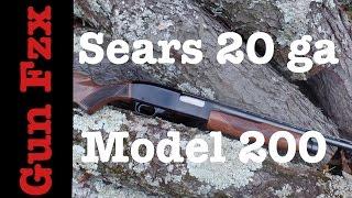 Sears Model 200 shotgun - 20 gauge pump - Ted Williams Edition