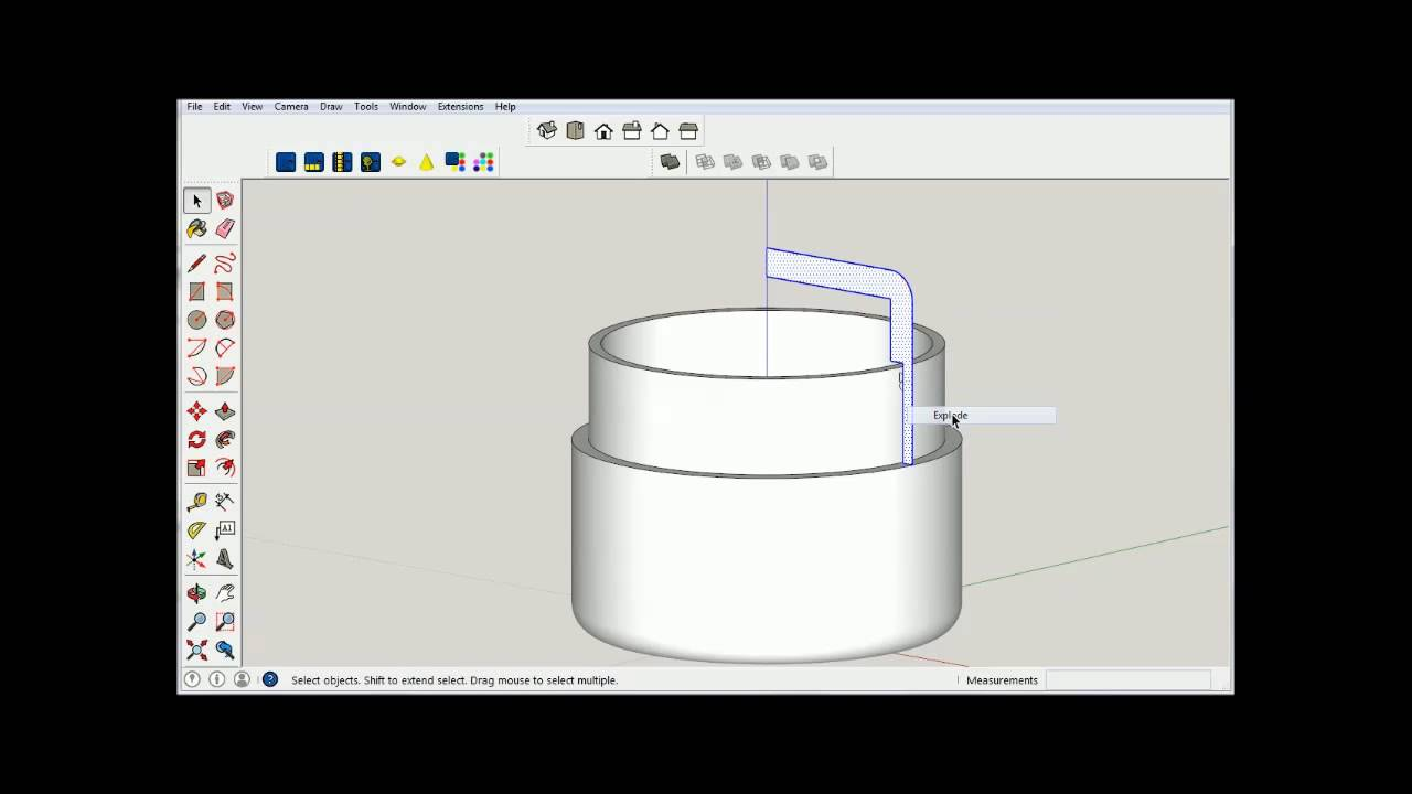 how to make a jar in sketchup