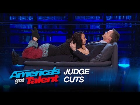 The Cuddler: Neil Patrick Harris Is Miserable While Being Hugged - America's Got Talent 2015