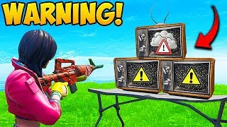 *NEW EVENT* WARNING SIGNAL ON TV'S!! - Fortnite Funny Fails and WTF Moments! #557