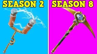 RANKING EVERY BATTLE PASS PICKAXE FROM WORST TO BEST! (Fortnite Battle Royale!) | Season 2-8!