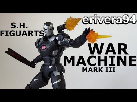 S.H. Figuarts War Machine Mark 3 Figure Review Captain America Civil War III