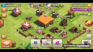 Clash of clans oynuyoruz #3-3 adet 2 lvl duvar-