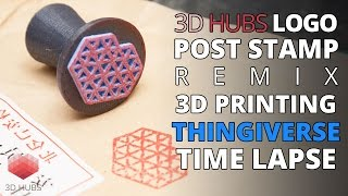 3D Printing Time Lapse | 3D Hubs Postage Stamp Rubber Silicone Stamp | Thingiverse Remix Model