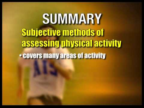 Measurements of Physical Activity - Part 1