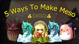How To Make 100B In MapleStory   Top 5 Ways To Make Mesos 2021 [GMS]