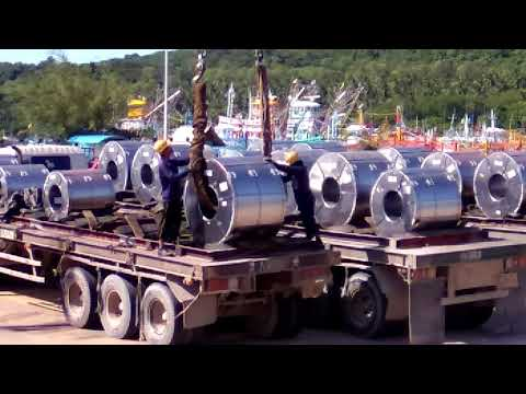 SCMarine - Loading is cold rolled steel in coil in bulk at Prachuap Port