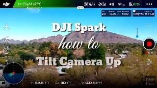 [DJI Spark] How to Tilt Camera/Gimbal up.